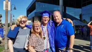 Family pic DJ graduates Gateway