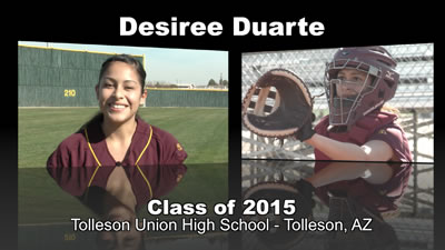 Desiree Duarte Softball Recruitment Video – Class of 2015