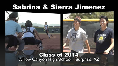 Sabrina & Sierra Jimenez Softball Recruitment Video – Class of 2014