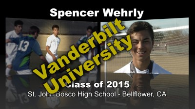 Spencer Wehrly Soccer Recruitment Video – Class of 2015
