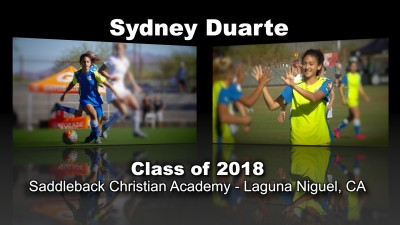 Sydney Duarte Soccer Recruitment Video – Class of 2018