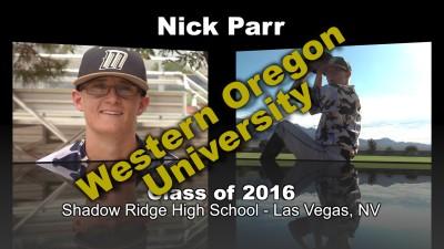 Nick Parr Baseball Recruitment Video – Class of 2016
