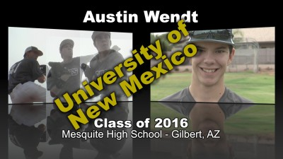 Austin Wendt Baseball Recruitment Video – Class of 2016