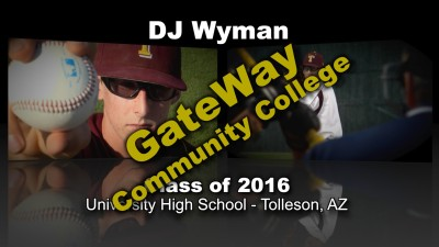 DJ Wyman Baseball Recruitment Video – Class of 2016