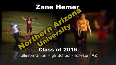 Zane Hemer Football Recruitment Video – Class of 2016