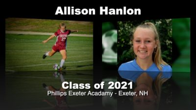 Allison Hanlon Soccer Recruitment Video – Class of 2021