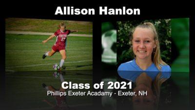 Allison Hanlon Soccer Recruitment Video – Class of 2021