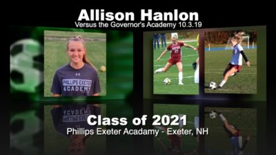 Allison Hanlon Soccer Recruitment Video – Vs. Governor's Academy