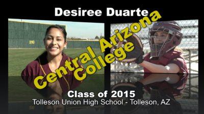 Desiree Duarte Softball Recruitment Video – Class of 2015