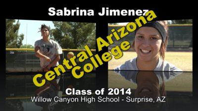 Sabrina Jimenez Softball Recruitment Video – Class of 2014