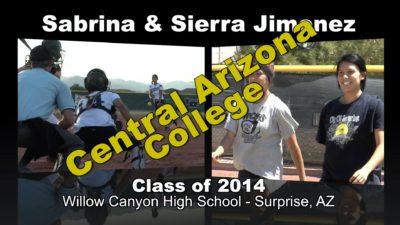 Sabrina & Sierra Jimenez Softball Recruitment Video – Class of 2014