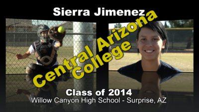 Sierra Jimenez Softball Recruitment Video – Class of 2014