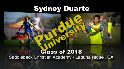 Sydney Duarte Soccer Recruitment Video – Class of 2018